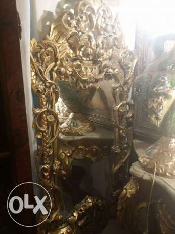 old fabulaus mirror very fine oiyma full of details 135 x 65 for 1850 مدينة نصر -  5