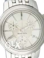 Men's Tiffany & Co. The Mark Quartz Chronograph stainless steel watch