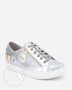 Silver Sneakers Shoes
