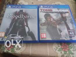 tomb raider definitive edition & bloodborne for play station 4 ps4