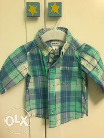 carters baby boy chemise from 3 to 6 months not used الشيخ زايد -  1