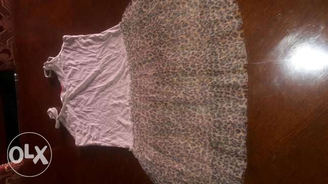 NEW tiger print tull dress size 7 years