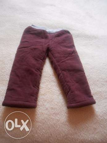 warm pants for child size 8-18 month