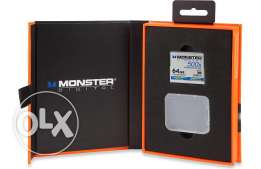 Monster Digital Compact Flash Memory Card 500X speed, 64GB capacity