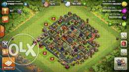 Clash of clans town 10 max for apple iphone