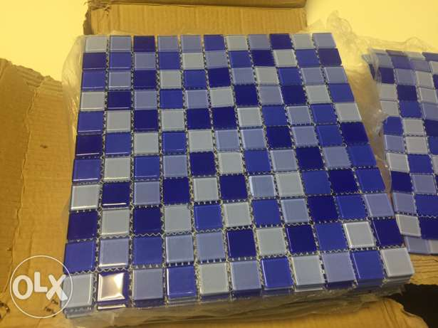 pool glass mosaic