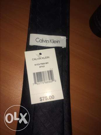 New BLACK ck Authentic Calvin Klein tie 75 $ cravat كرافت كالفين كلاي