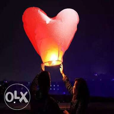 love shaped lanterns