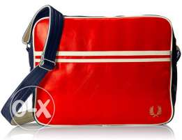 original fredperry bag red leather fits laptop unisex for 850 LE