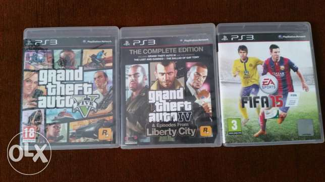 CD games Gta v Gta iv fifa17