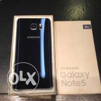 galaxy note 5 32giga like new with fast charger haedphone original