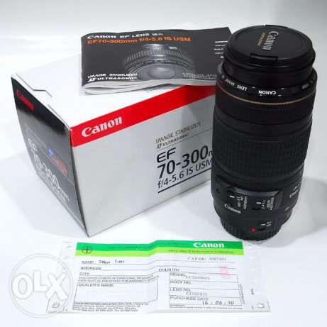 Canon Lens 70-300 MM Full Frame IS USM New with Box مدينة نصر -  1