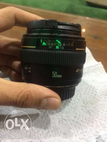 Lens 50 mm 1:1.4 canon used 3 month only- good condition