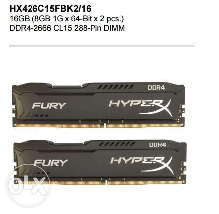 Kingston Hyperx Fury 16GB Memory Kit 2x8GB DDR4 عين شمس -  1