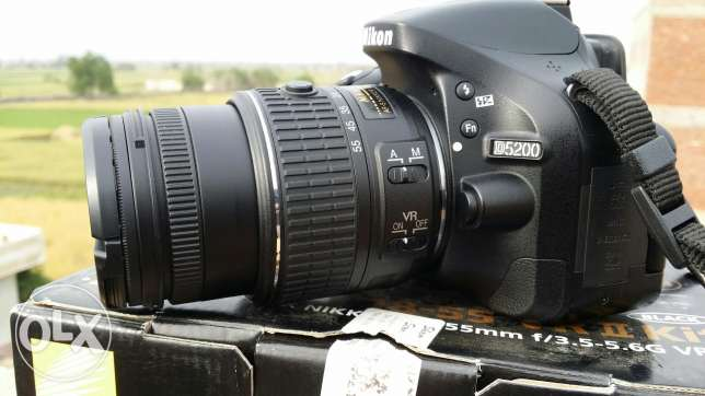 Nikon d5200 +18.55 vr2. Shutter 14k only. Very good condition