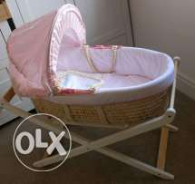 Mothercare Moses Basket with Stand (Pink)