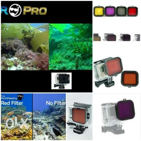 Filters for gopro cameras