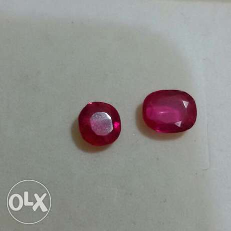 Two Rubies pigeon blood 8.5 carats.