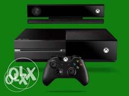 xbox one with kiniket with 20 games and 2 controllers and charger