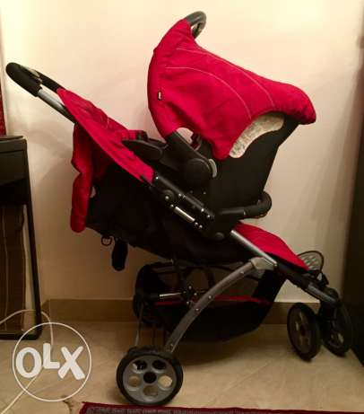 Mothercare Vesta 3 - Wheeler Travel System - Flame Red المقطم -  5