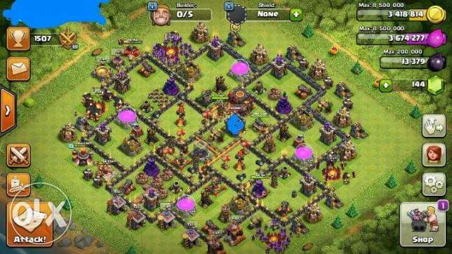 Clash of clans TH10 almost max مدينة كفر الشيخ -  1