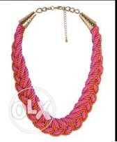 Orange and pink necklace