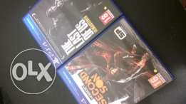 Infamous second son and last of us for exchange