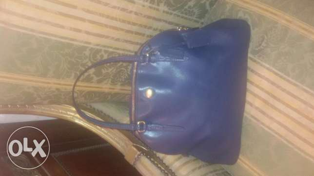 Original Coach bag blue in a very good condition حالتها جيدة جدا الدقى  -  2