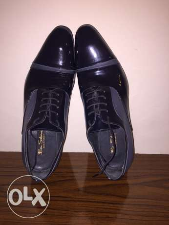 blue black shoes