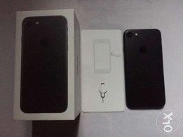 for sale i phone 7 matte black full original accessories and Box
