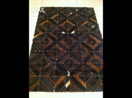 real leather patchwork cowhide rug