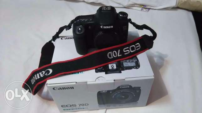 canon 70d body like new