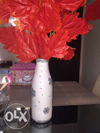 unique handmade vase- winter version مدينتي -  1
