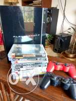 PS3 fat 2009 model 80 GB + 2 controllers + 9 games