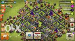 Clash of clan acc for sell townhall9 lvl 110 كلاش اوف كلان تون 9