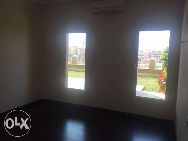 Apartment for rent in compound the village ground with garden good loc
