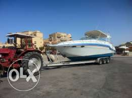 Trailer for big boats 10m 6wheels aluminumeمقطورة فقط