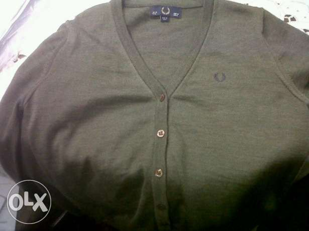 Fred Perry original navy marl cardigan made in italy القاهرة -  6