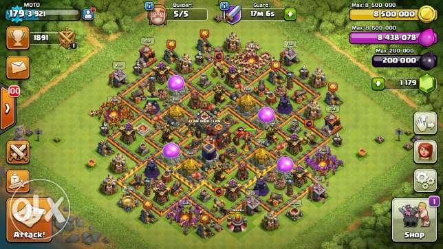 Clash Of Clans lvl 180, TH 10, Max 100% Heroes /Walls/Troops شبرا -  4