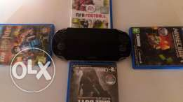 Psp-vita with some Russian games