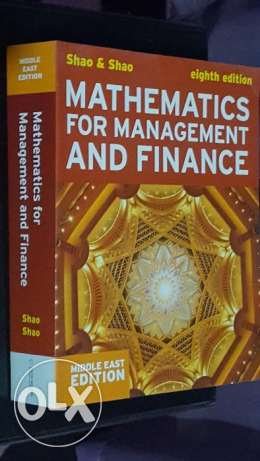 Mathematics for Management & Finance